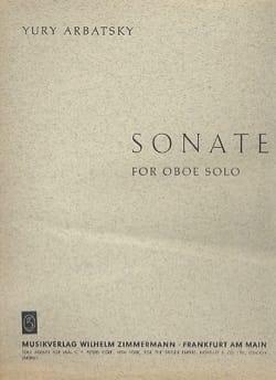 Yury Arbatsky - Sonate für Oboe - Partition - di-arezzo.fr