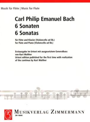 Carl Philipp Emanuel Bach - 6 Sonaten - Flöte und Bc Klavier - Sheet Music - di-arezzo.co.uk