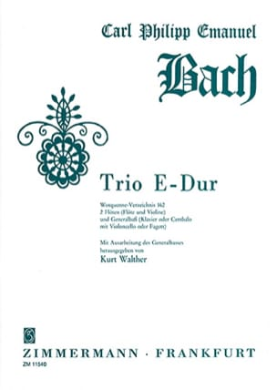 Carl Philipp Emanuel Bach - Trio in E Major Wq 162 - Sheet Music - di-arezzo.com