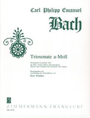 Carl Philipp Emanuel Bach - Triosonate a-moll Wq 148 - Flöte Violine Oboe u. BC - Partition - di-arezzo.fr