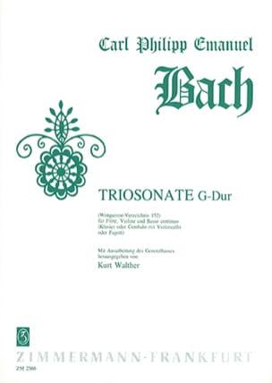 Carl Philipp Emanuel Bach - Triosonate G-Dur Wq 152 - Flute Violine u. BC - Sheet Music - di-arezzo.com