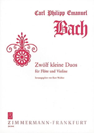 Carl Philipp Emanuel Bach - Zwölf Kleine Duos - Partition - di-arezzo.fr
