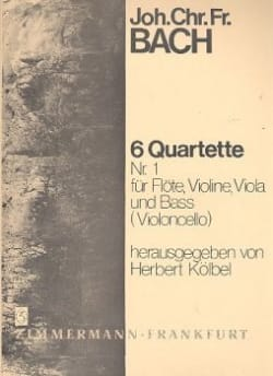 Johann Christoph Friedrich Bach - 6 Flötenquartette Nr. 1 - Flöte, Violine, Viola u. Bass Violoncello - Sheet Music - di-arezzo.com