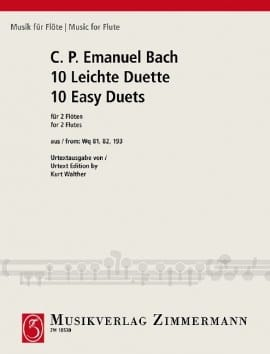 Carl Philipp Emanuel Bach - 10 Leichte Duette - 2 Flöten - Sheet Music - di-arezzo.co.uk