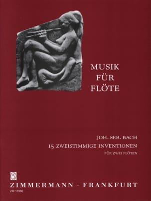 Johann Sebastian Bach - 15 Zweistimmige Inventionen – 2 Flöten - Partition - di-arezzo.fr