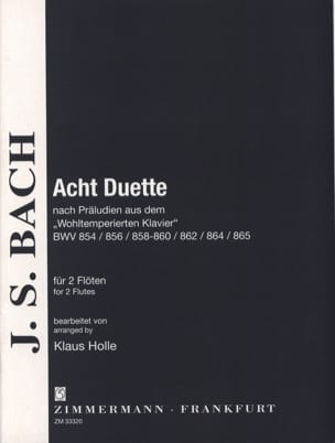 BACH - 8 Duets from the Well-Tempered Harpsichord Preludes - Sheet Music - di-arezzo.com