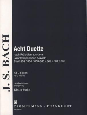 BACH - 8 Duos d'après les Préludes du Clavecin Bien Tempéré - Partition - di-arezzo.fr