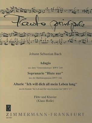 Johann Sebastian Bach - Adagio BWV 249, Arie BWV 244, 117 – Flöte Klavier - Partition - di-arezzo.fr