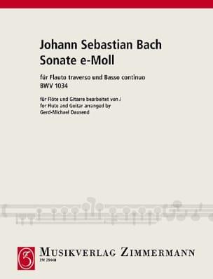 BACH - Sonate e-moll BWV 1034 – Flöte Gitarre - Partition - di-arezzo.fr