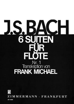 BACH - Suite N ° 1 in G Major BWV 1007 For Flute Only - Sheet Music - di-arezzo.com