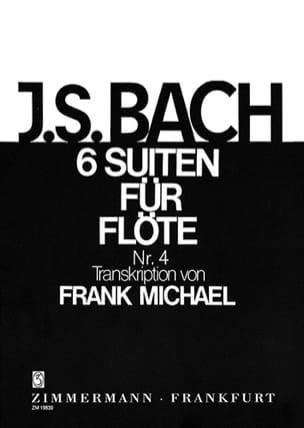 BACH - Suite Nr. 4 BWV 1010 Pour Flûte Seule 6 Suiten For Flöte Solo) - Partition - di-arezzo.fr