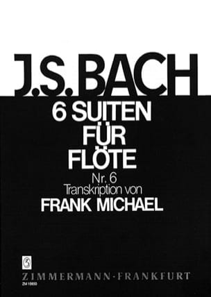 Suite Nr. 6 BWV 1012 Pour Flûte Seule (6 Suiten Für Flöte) - laflutedepan.com