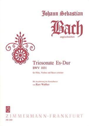 BACH - Triosonate Es-Dur BWV 1031 - Flute Violine u. Bc - Sheet Music - di-arezzo.com