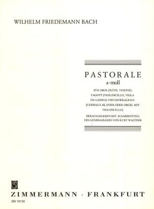 Carl Philipp Emanuel Bach - Pastorale a-moll – Oboe (Flöte, Violine), Fagott (Vlc, Viola da Gamba) u. BC - Partition - di-arezzo.fr