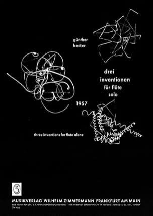 3 Inventionen – Flöte solo - Günther Becker - laflutedepan.com