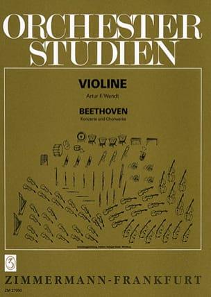 BEETHOVEN - Orchesterstudien Violine - Konzerte, Chorwerke - Sheet Music - di-arezzo.com