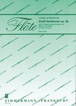 Ludwig van Beethoven - 12 Variationen, op. 66 – Flöte Klavier - Partition - di-arezzo.fr