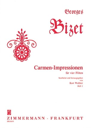 Carmen-Impressionen - Heft 1- 4 Flutes BIZET Partition laflutedepan