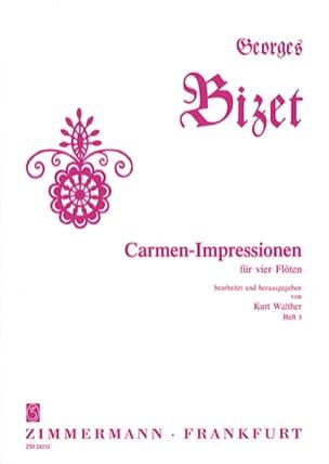 Carmen-Impressionen - Heft 3 - 4 Flutes - BIZET - laflutedepan.com