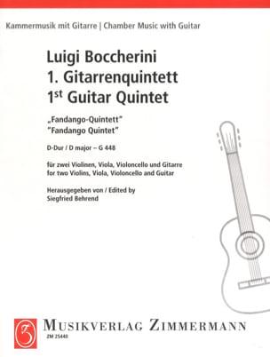 Luigi Boccherini - Fandango Quintette en Ré Majeur - G.448 - Partition - di-arezzo.fr