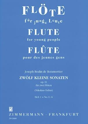Joseph Bodin de Boismortier - 12 Kleine Sonaten op. 13 - Heft 1 – 2 Flöten - Partition - di-arezzo.fr