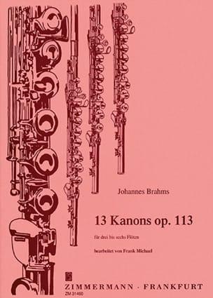 13 Kanons op. 113 - 3 bis 6 Flöten BRAHMS Partition laflutedepan