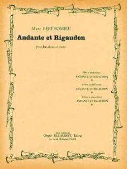 Andante et Rigaudon - Marc Berthomieu - Partition - laflutedepan.com