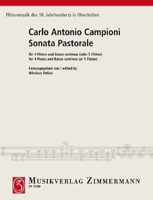 Sonata pastorale - 4 Flöten u. BC o. 5 Flöten laflutedepan