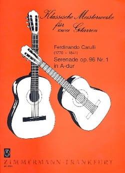 Serenade in A-Dur Fernando Carulli Partition Guitare - laflutedepan
