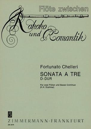 Fortunato Chelleri - Sonata a tre in D-Dur -2 Flöten und Bc - Partition - di-arezzo.fr
