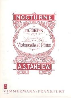 Frédéric Chopin - Nocturne Op. 72 - Partition - di-arezzo.fr