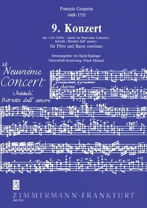 Concert n° 9 -Flöte und Bc - COUPERIN - Partition - laflutedepan.com