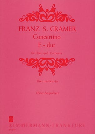 Concertino E-Dur– Flöte Klavier - Franz S. Cramer - laflutedepan.com
