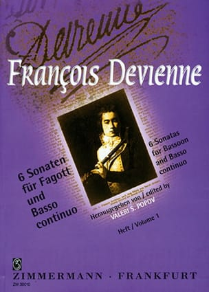6 Sonaten Volume 1 - Fagott Und Bc François Devienne laflutedepan