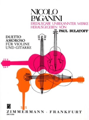 Duetto Amoroso - Violine Gitarre - PAGANINI - laflutedepan.com