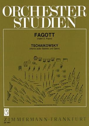 TCHAIKOVSKY - Orchesterstudien - Fagott - Partition - di-arezzo.fr