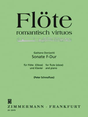Gaetano Donizetti - Sonate F-Dur – Flöte (Oboe) u. Klavier - Partition - di-arezzo.fr