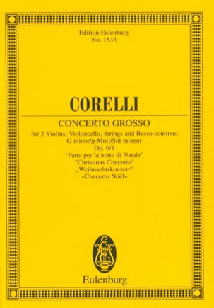 Arcangelo Corelli - Concerto Grosso G-Moll For Christmas Night - Conductor - Sheet Music - di-arezzo.com