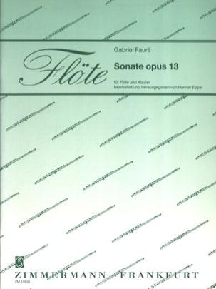 Sonate Opus 13 Gabriel Fauré Partition laflutedepan