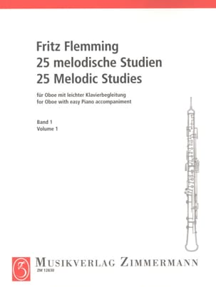 Fritz Flemming - 25 Melodische Studien - Oboe - Bd. 1 - Sheet Music - di-arezzo.co.uk