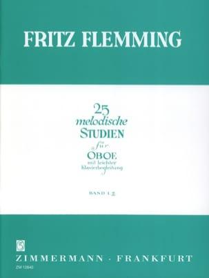 25 Melodische Studien - Oboe - Bd. 2 Fritz Flemming laflutedepan