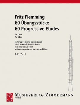 Fritz Flemming - 60 Ubungsstücke Für Oboe Volume 1 - Sheet Music - di-arezzo.co.uk