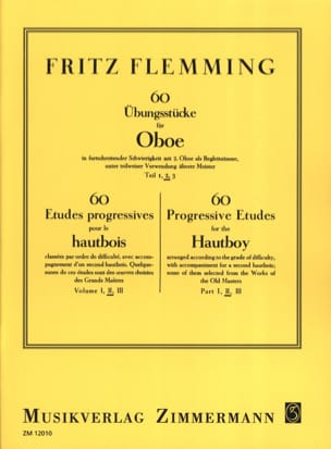 Fritz Flemming - 60 Ubungsstücke Für Oboe Vol.2 - Sheet Music - di-arezzo.co.uk