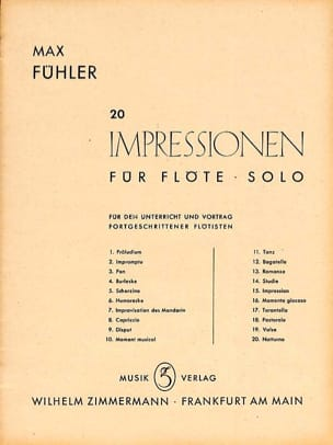 Max Fühler - Suite – Flöte solo - Partition - di-arezzo.fr