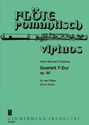Anton Bernhard Fürstenau - Quartett F-Dur op. 88 - 4 Flöten - Partition - di-arezzo.fr