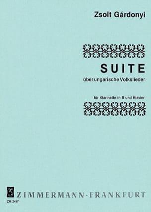 Zsolt Gárdonyi - Suite über ungarische Volkslieder - Partition - di-arezzo.fr