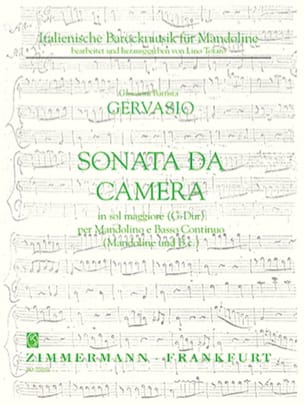 Giovanni Battista Gervasio - Sonata da camera in maggiore floor - Mandolino e Bc - Sheet Music - di-arezzo.co.uk