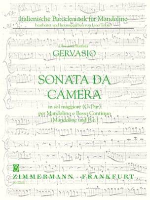 Giovanni Battista Gervasio - Sonata da camera in sol maggiore – Mandolino e Bc - Partition - di-arezzo.fr