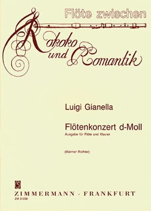 Luigi Gianella - Concerto For Flute In D Minor - Sheet Music - di-arezzo.com