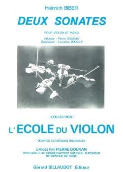 2 Sonates - BIBER - Partition - Violon - laflutedepan.com